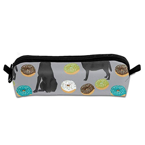 Black Labrador Donuts Cute Lab Dog Best Labrador R Student Polyester Double Zipper Pen Box Boys Girls Pencil Case Cosmetic Makeup Bag Pouch Stationery Office School Supplies 21 X 5.5 X 5 cm (Kids R Us-spielzeug-box)