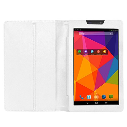Acm Executive Case For Micromax Canvas Tab P480 Tablet Front & Back Flip Cover Stand White  available at amazon for Rs.219