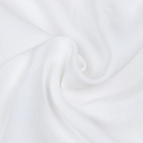 Kleider Damen, Bekleidung Longra Frauen Casual Langarm V-Ausschnitt Kleid Solid Lange Maxi Kleid White