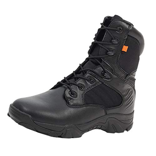 Huatime Schuhe Herren Damen Arbeits Berufsschuhe Militär Einsatz - Kampf Stiefel Knöchel Militär Taktisch Plattform Leder Schnürschuhe Armee Sicherheit Outdoor Wüste Schuhe Leicht Atmungsaktiv