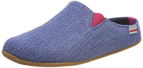 Giesswein Damen Pama Pantoffeln, Blau (Jeans), 36 EU