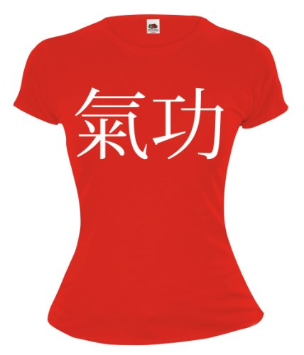 Girlie T-Shirt Qigong-XXL-White-Red