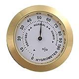 Hygromètre analogique en laiton pour cigarettes et tabac, avec lentille en verre pour humidificateurs