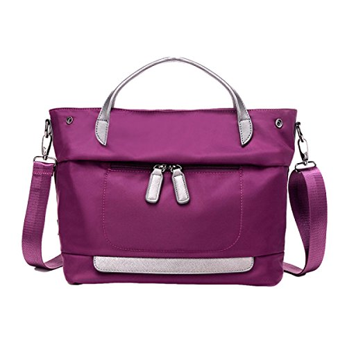 Damen Freizeit Nylon Tuch Schulter Messenger Tasche Oxford Wasserdichte Tuch Tasche Purple