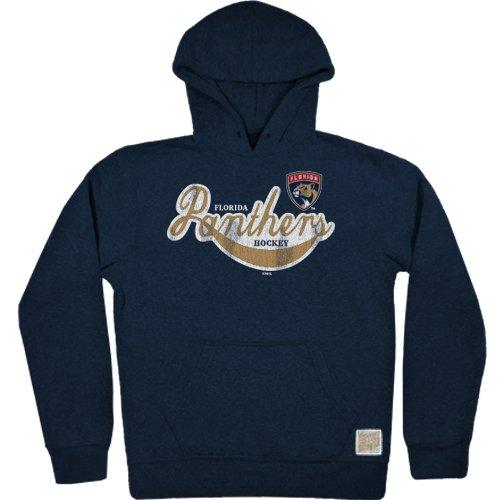 Original Retro Brand NHL Herren Fleece-Kapuzenpullover Florida Panthers Tri-Blend Gr. XXL, Marineblau Florida-retro-sweatshirt