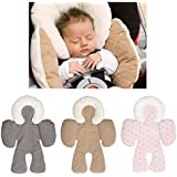 Leegoal Head And Body Support Pillow, Infant To Toddler Head, Neck And Body Cushion Perfect For Car Seats And Strollers, Detachable Head For Versatility As The Baby Grows (Gray)