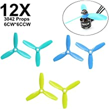 DroneAcc 12pcs GEP-P3042 3-Blade Propellers 3 inch Blades Propellers CW CCW for FPV Racing Quadcopter Helicopter Drone