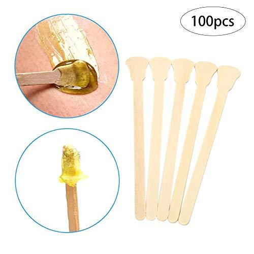 100 Conde madera depilación cera aplicadores cera