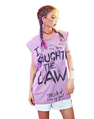 G.G.W Damen Cool Girl Tank Top Damentop Hiphop Cut Out Sommer Leicht Lose Einfach - Einfach Tank Girl Kostüm