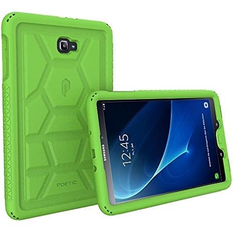 Funda Galaxy Tab A 10.1 - Poetic [Serie Turtle Skin] Funda Galaxy Tab A 10.1 - [Protección Esquina/Parachoques] [Amplificación de Sonido] Funda Protectora de Silicón para Samsung Galaxy Tab A 10.1 (2016) Verde (3 Años Garantía del Fabricante