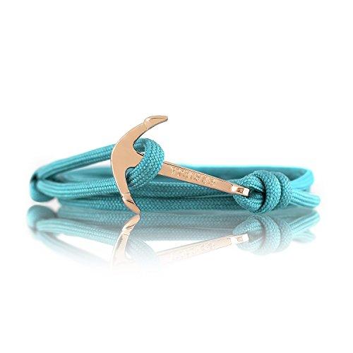 Modeschmuck Maritim Unisex :: Ankerfarbe: Gold :: (Turquoise Sea) (Designer Modeschmuck)