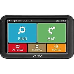 "Navman M616 5"" Widescreen Sat Nav In-Car Satalite Navigation System - UK & European Mapping, 3D Lane Guidence, IQ Routes, Map Updates"