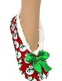 Co-zees New Novedad Navidad Zapatillas Reno Papá Noel o Mu?eco de Nieve, Color, Talla 37 EU-39 EU