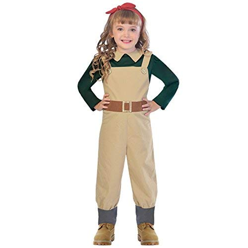 Country Dress Fancy Girl Kostüm - amscan Girls 1940s Country Girl Costume Kids World Book Day Fancy Dress ...