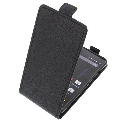 foto-kontor Tasche für Archos 50d Oxygen Plus 50D Oxygen Smartphone Flipstyle Schutz Hülle schwarz