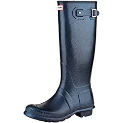 Hunter Woman Original Tall Starcloud Neptune WFT2000RGT NEP, Botas de Agua Brillantes Color Azul, 37