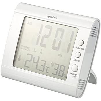 AmazonBasics - Digitales Thermo-Hygrometer - Weiß