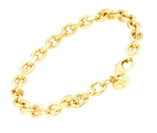 Anker-Armband Gold Doublé 6 mm 19 cm Gold-Armband Herren Damen Geschenk Schmuck ab Fabrik Italien tendenze AGYs6-19v