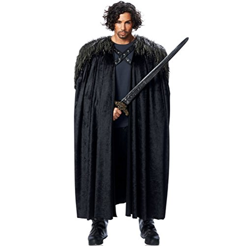 Wächter Kunstfellumhang von Game of Thrones, Jon Snow, Sam Tarly, schwarz, 55-05-00-03