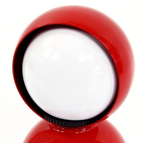 Eclisse lampada da tavolo rosso lucido