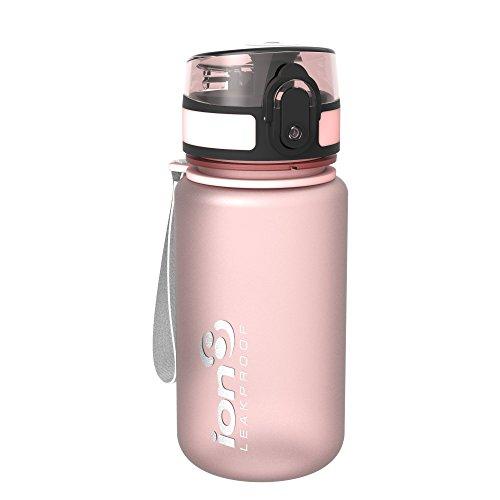 Ion8 auslaufsichere Kinder Wasserflasche/Trinkflasche, BPA-frei, 350ml/12oz, Rose