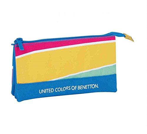 Safta PORTATODO Triple Benetton Stripes