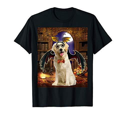 Devil Dog Schwarz T-shirt (Happy Halloween Golden Retriever Dog - Golden Devil witches T-Shirt)