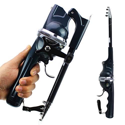 Bozaap Fishing Gear Folding Pocket Angelrute Teleskop mit Angelschnur Tragbare Angelrute