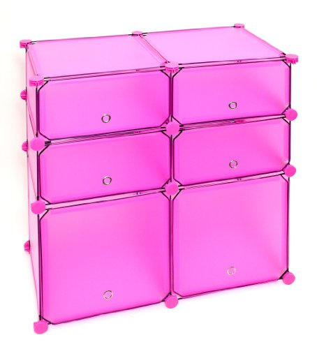 Regal Schrank Steckregal Badregal Kleiderschrank Kinderregal Kommode in Rosa Pink