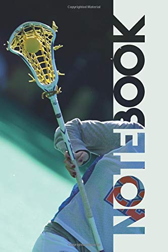 Notebook: Lacrosse Stick Colorful Composition Book for Women's Coach por Molly Elodie Rose
