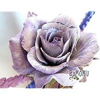 Flores de Porcelana Rusa Miniatura ROSA Lila Home Decor regalo - HAND MADE
