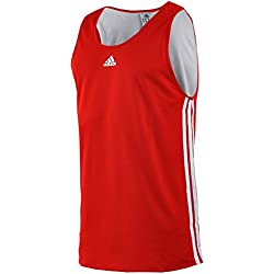 adidas Team Reversible–Camiseta de baloncesto para hombre, rojo