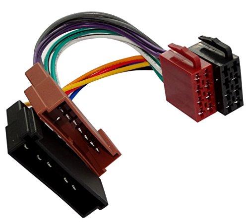 AERZETIX: Adaptador AA3 con ISO cables enchufes para autoradio