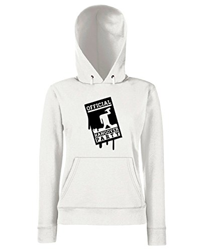 T-Shirtshock - Sweats a capuche Femme MAT0065 Official Hangover Party Maglietta Blanc