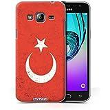 Coque de Stuff4 / Coque pour Samsung Galaxy J3 / Turquie/Turc Design / Drapeau Collection