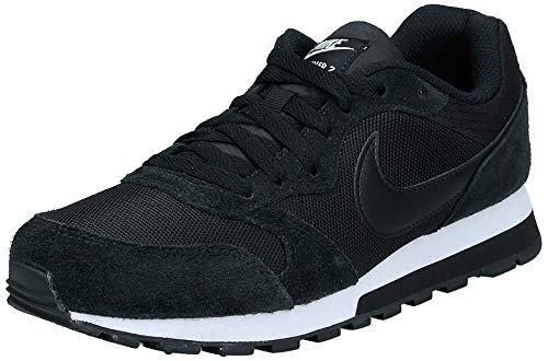 Nike MD Runner 2, Zapatillas de Running Mujer, Negro Black / Black-White, 37.5 EU