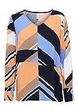 SOYACONCEPT - Damen Bluse, SC-Renee 1 (15411-30), Größe:L, Soyakoncept Farbe:Blau/orange (6260c)
