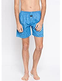 Nick & Jess Mens Blue Space Printed Cotton Boxer Shorts
