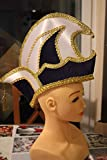 HaPe-Kopa Prinzen Mütze Komitee-Mütze Ornatsmütze Elferratsmütze blau-Weiss-Gold bis KW 63 mit Goldborte