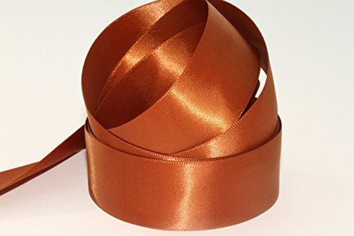 Doppelseitiges Luxus-Satinband - 20-m-Rolle, Saddle Brown ( Col 360 ), 10 mm -