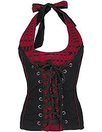 Fashion Victim Corded Chest Noué dans le cou noir/rouge