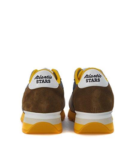 Sneaker Atlantic Stars Antares in suede grigio e verde scuro Grigio