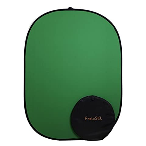 PhotoSEL BD111G Chroma Key Green Screen Collapsible Background 1.5m x 2m