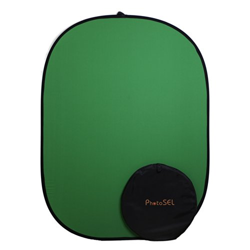 PhotoSEL BD111G Faltbarer Fotohintergrund Chroma Key Grün 1,5m x 2m