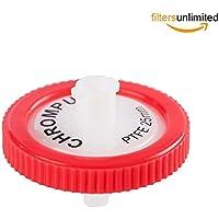 Filtro de jeringa, Membrana Solutions Lab Supply Filtro PTFE, 0,45 micras, tamaño del poro, 25 mm de diámetro, paquete de 10
