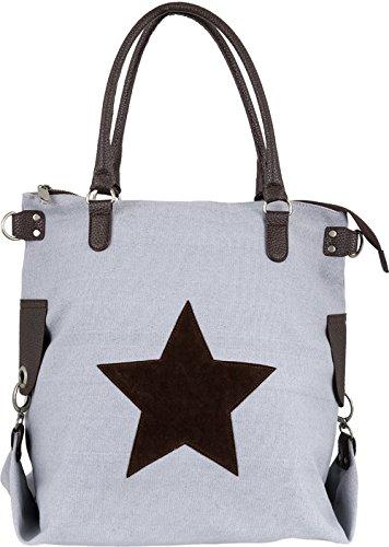 Bags4Less - F3151, Borsa a tracolla Donna Dunkelgrau-Canvas