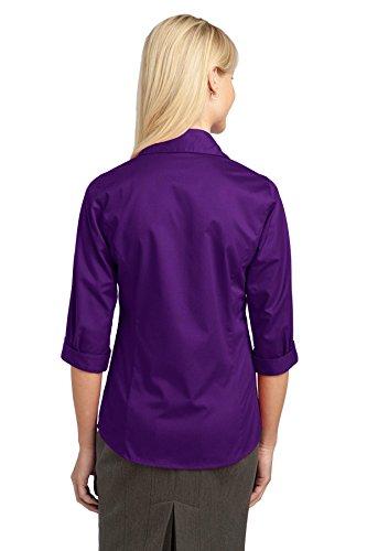 Autorité portuaire-Manches 3/4 pour Blouse. L6290 violet intense
