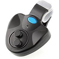 Forfar mejor Seneitive Mordedura de la pesca electrónica Indicador LED de alarma El sonido de alerta Caña de pescar con Loud Siren Pesca de día / noche de la carpa al aire libre Negro