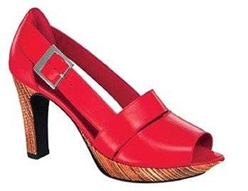 Ashley Brooke Peeptoes, Scarpe col tacco donna Rosso (rosso)