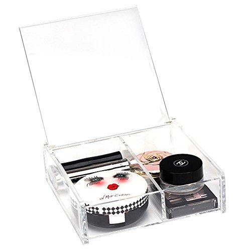 XL® L'alta qualità 2 griglie trucco acrilico dell'organizzatore di immagazzinaggio cosmetici stoccaggio contenitore scatola di plastica SF-1027
